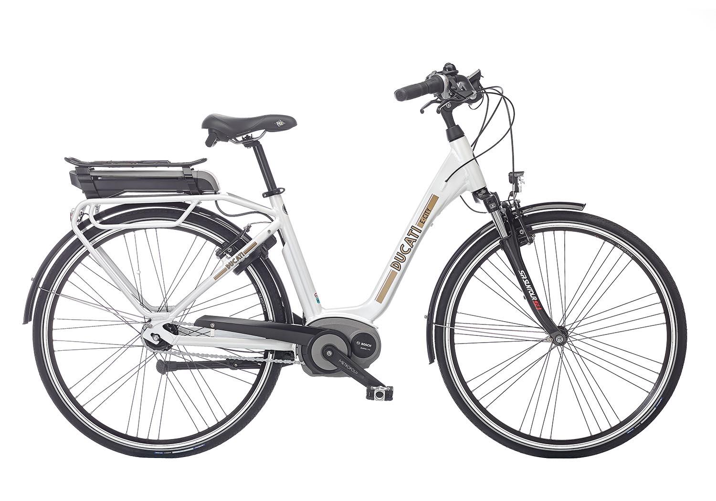 """Električno mestno kolo Ducati E-City 28"""" – Biserna bela"""